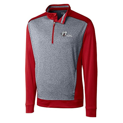 Cutter and Buck Alabama 2017 National Champions Replay Half Zip Pullov Cardinal Red