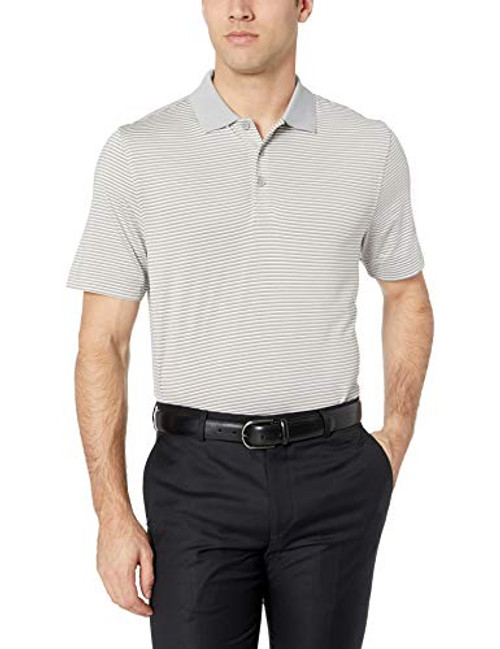Cutter & Buck Men's Moisture Wicking UPF 50 Drytec Forge Tonal Stripe Polo Shirt Polished