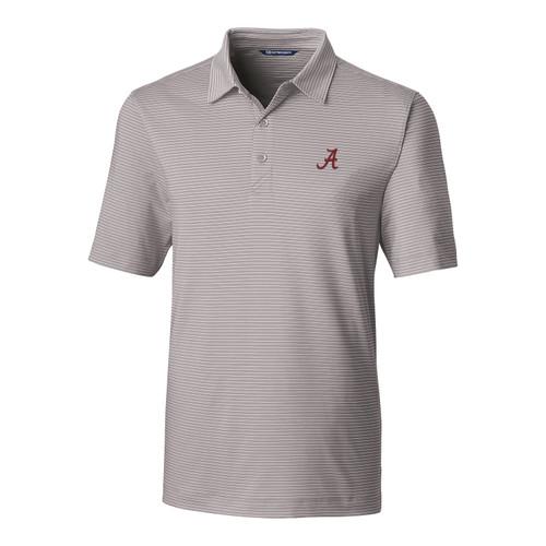 Cutter & Buck NCAA University of Alabama Crimson Tide Forge Pencil Stripe Stretch Men's Short Sleeve Polo