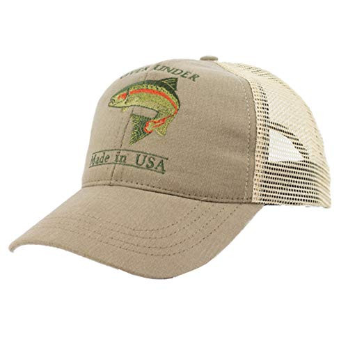 Over Under Rainbow Trout Mesh Back Hat, Tan