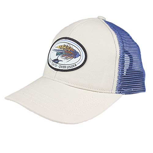 Over Under Fly Vise Mesh Back Hat, Khaki