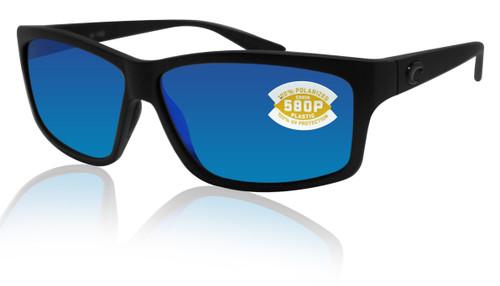 Costa Del Mar Costa Del Mar UT01OBMP Cut Blue Mirror 580P Blackout Frame Cut, Blackout Frame, Blue Mirror 580P, Large