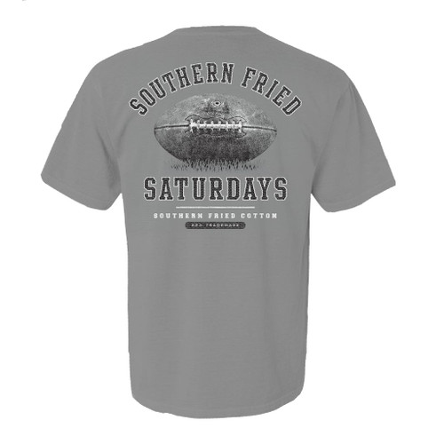 Southern Fried Cotton Southern Fried Saturdays Football Adult Unisex Comfort Colors Short Sleeve Pocket T-Shirt