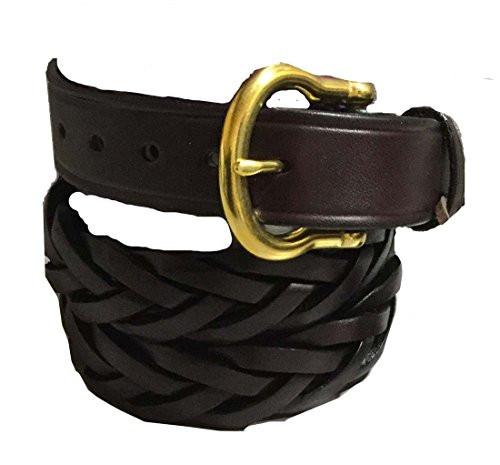 Over Under Saddle Braid Belt 30 Brown