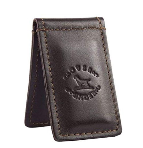 Over Under Leather Money Clip