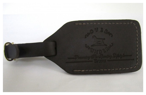 Over Under Leather Luggage Tag with Embossing
