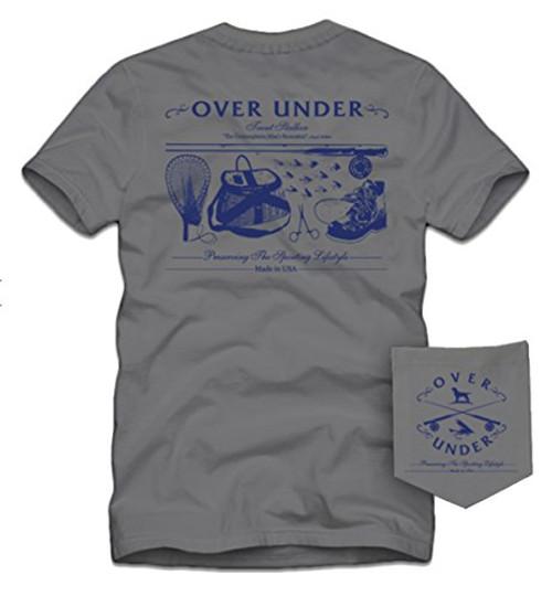 Over Under Men's Trout Stalker Short Sleeve Tee Shirt Hurricane