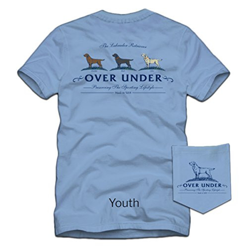 Over Under Lab Trio Youth Short Sleeve Tee Shirt Blue yl