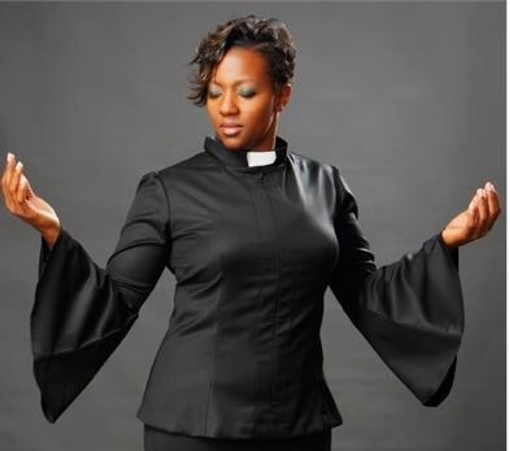 7f116079140 TAWNI HAYNES CUSTOM MADE CLERGY TOP - Righteous Shoes   Apparel