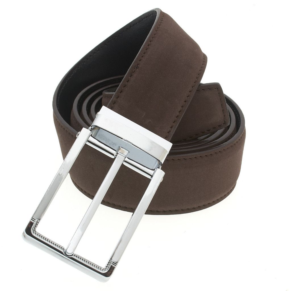 RS&A CROSS & CROWN MEN'S 100% LEATHER BELT #:05E113