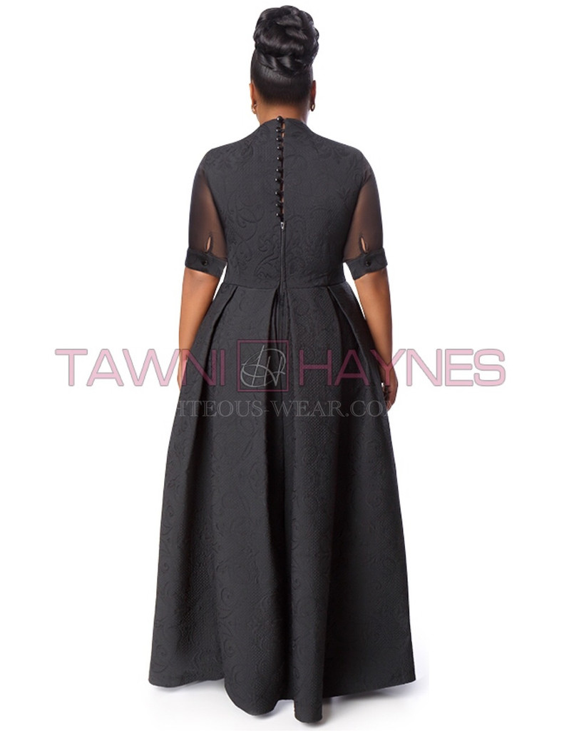 TAWNI HAYNES PLEATED CAPE JUMPER