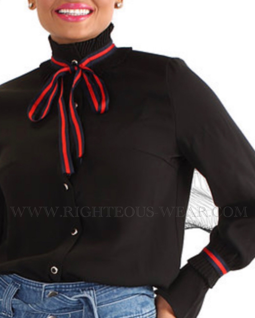ROYAL RIBBON BLOUSE