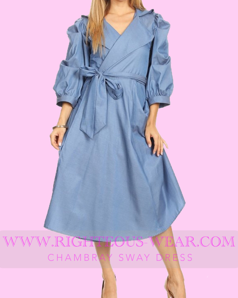 CHAMBRAY SWAY DRESS