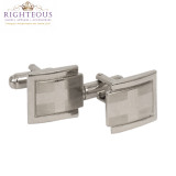 Silver Cross Cuff Links 19523