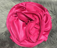 POLY-SATIN CIRCULAR FLOWER PIN