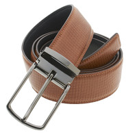 RS&A CROSS & CROWN MEN'S 100% LEATHER BELT #:05E114