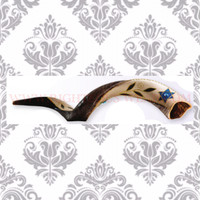 Painted Yemenite Small Shofar