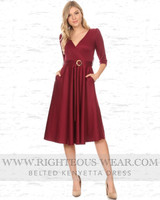 BELTED KENYETTA DRESS