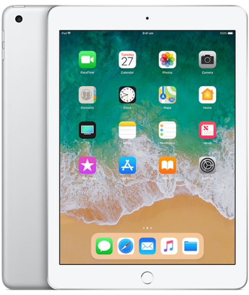 APPLE iPad 9.7INCH WI-FI 128GB (6th GEN) - Silver (MR7K2X/A)