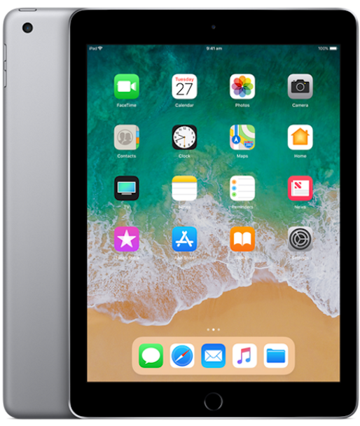 APPLE iPad 9.7INCH WI-FI 128GB (6th GEN) - Space Grey (MR7J2X/A)