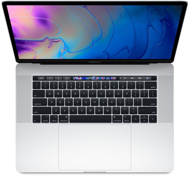 """Apple MacBook Pro 15"""" 2018 16GB RAM  2.2GHz Processor  256GB Storage Touch Bar and Touch ID Silver"""