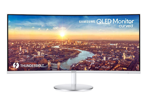"Samsung 34"" Thunderbolt 3 Curved Monitor with 21:9 Wide Screen CJ79 Series C34J79"