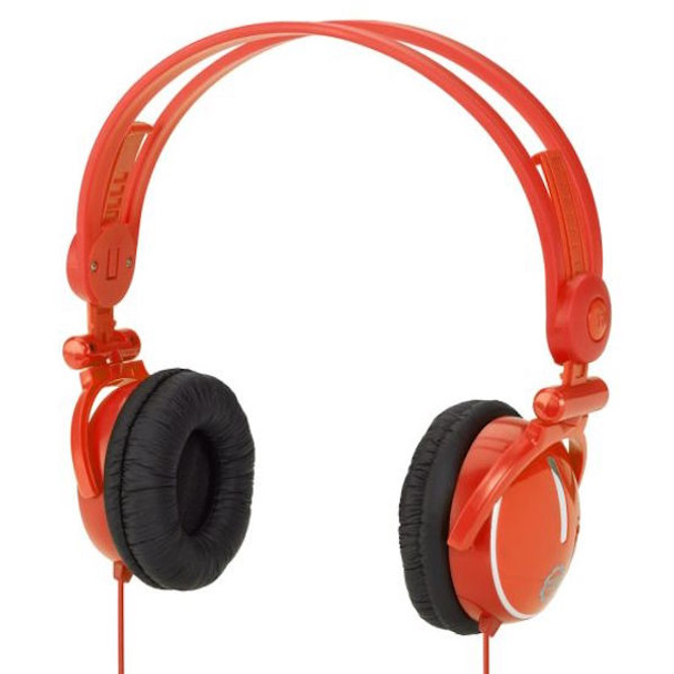 Kidz Gear Wired Travel Headphones with Fold Flat Design for Kids - Orange
