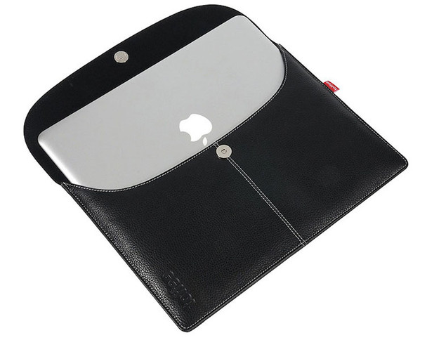 """Toffee Leather Envelope for 11"""" MacBook Air - Black  **MACBOOK NOT INCLUDED**"""