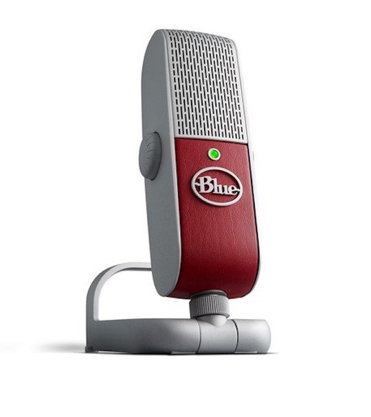 Blue Raspberry USB and Lightning Microphone - Red