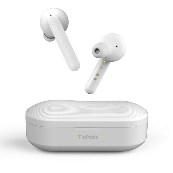 TicPods Free True Wireless Bluetooth Earbuds with Clear Crisp Audio and Charging case (Ice)