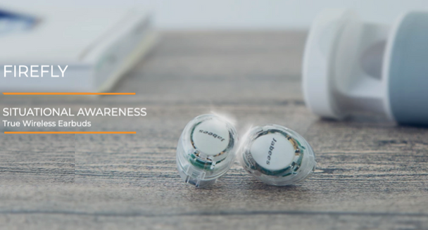 Jabees Firefly True Wireless Graphene-enhanced Sound Earbuds - Crystal Clear