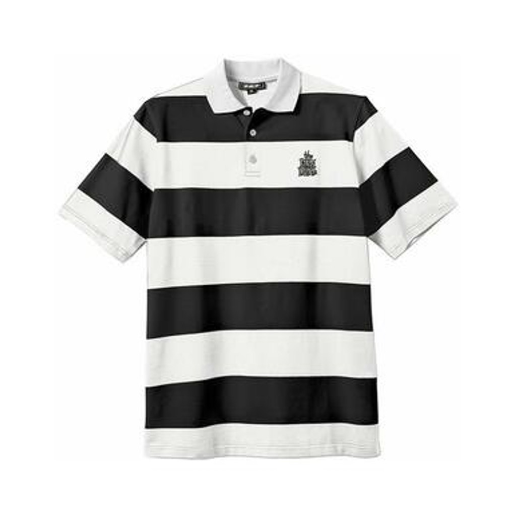 New Deal - Stripped Polo Black/White