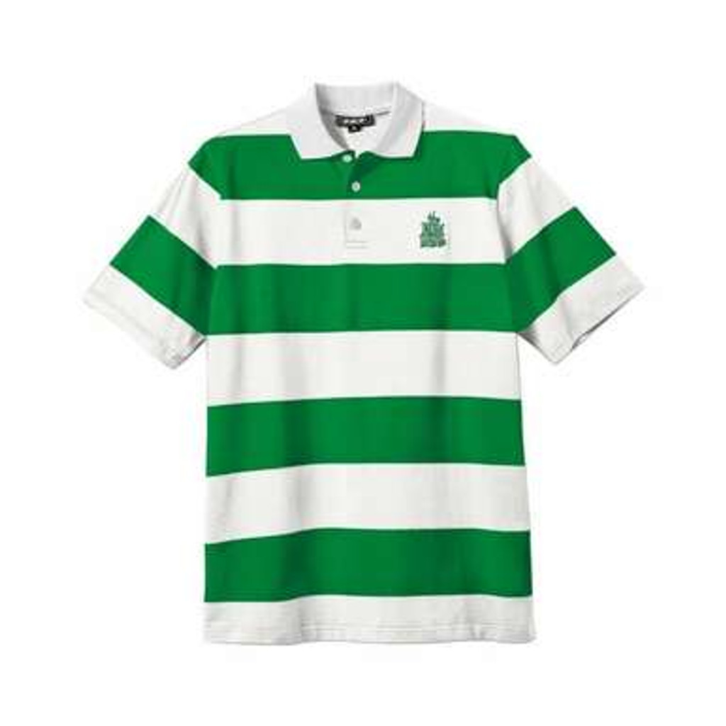 New Deal - Stripped Polo Green/White