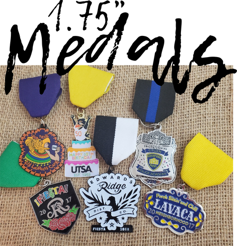 Fiesta Medals, race medals, events, weddings ,and awards. This custom medal is the perfect promotional product for you family reunion, parade, marketing event. Colleges and nonprofit fundraisers