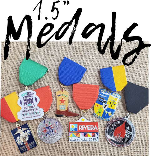 Fiesta Medals, race medals, events, weddings ,and awards. This custom medal is the perfect promotional product for you family reunion, parade, marketing event. Colleges