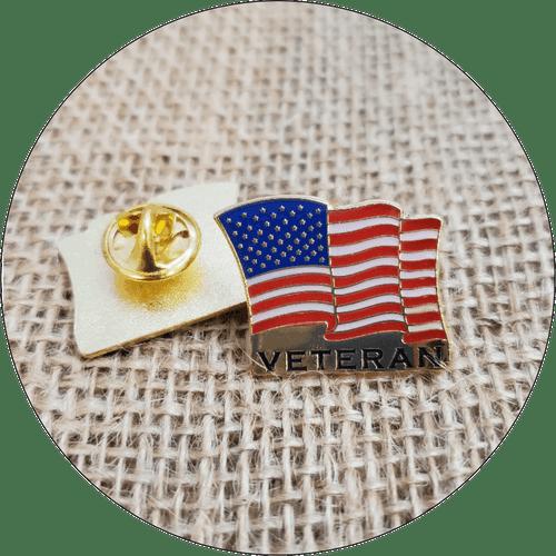 Veteran USA Flag Lapel Pin