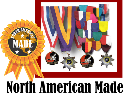 North American Made: Fiesta Medal with ribbon