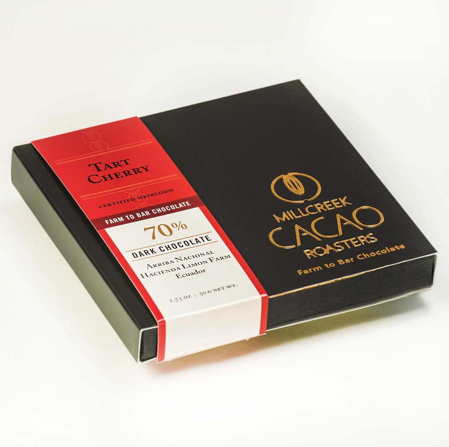 Arriba Tart Cherry 70% Dark Cacao Bar - Heirloom Certified