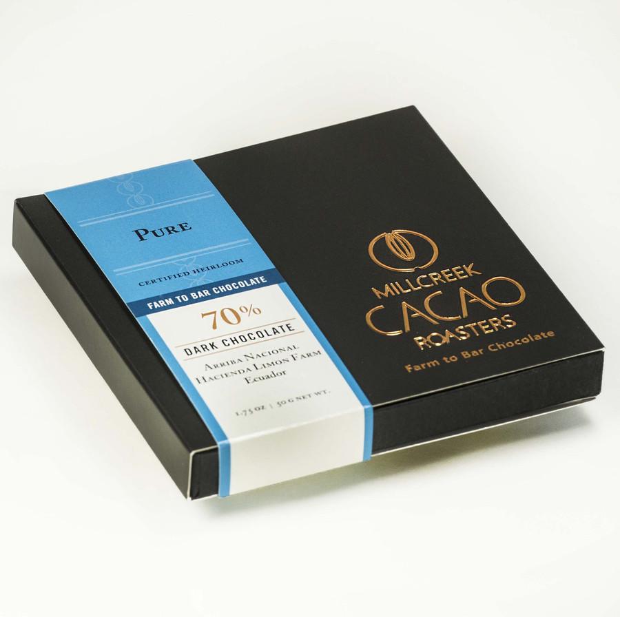 Arriba Pure 70% Dark Cacao Bar - Heirloom Certified