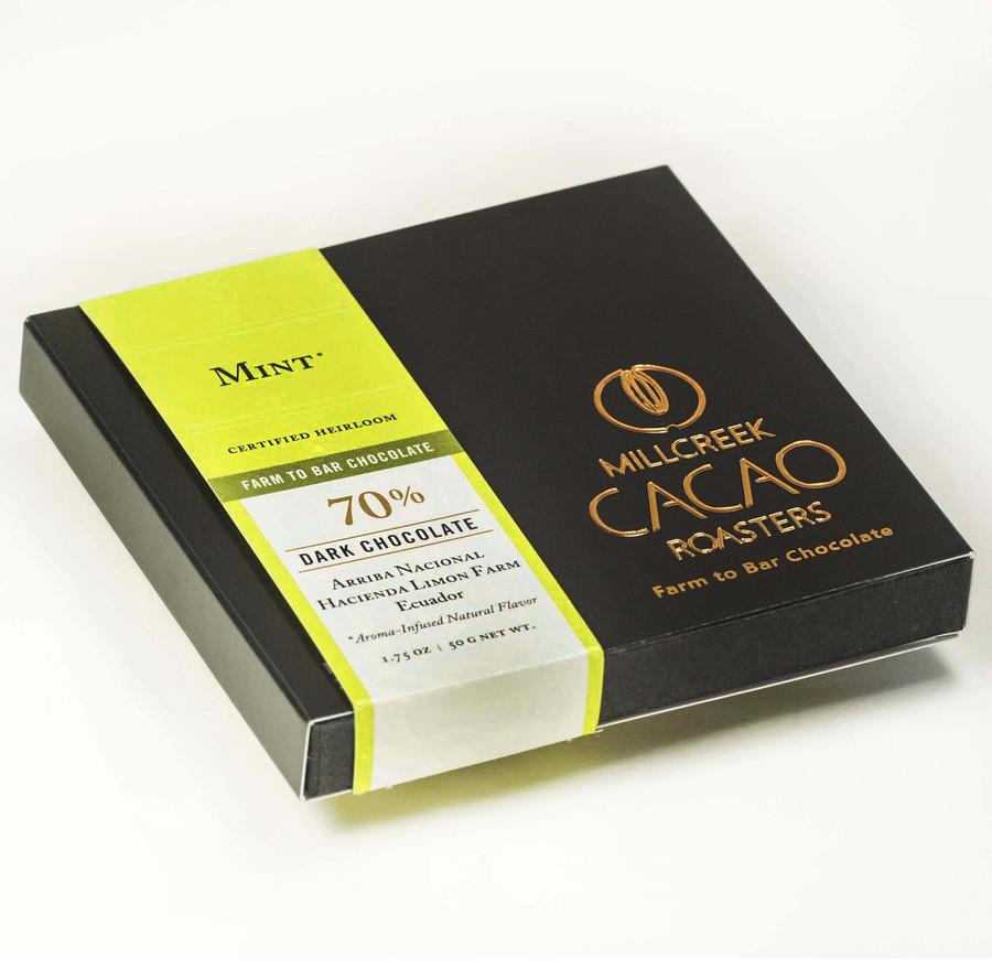 Arriba Mint 70% Dark Cacao Bar - Heirloom Certified