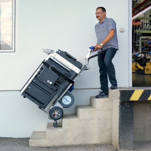Wesco Liftkar SAL Fold Handle Motorized Stair Climbing Hand Truck (375 lb. Capacity Pneumatic Wheels) - Wesco 274149