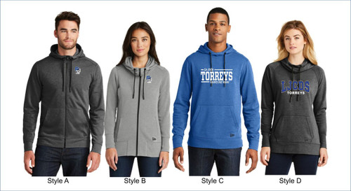 New Era®  Tri-Blend Fleece Full-Zip and Pullover Hoodies Men's & Women's