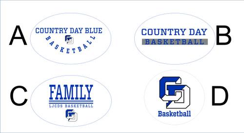 Men's Basketball Window decals/Stickers