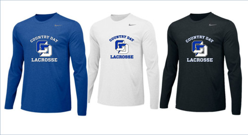 Men's Lacrosse Nike Long Sleeve Legend Performance Tee