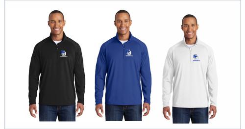 Baseball Sport-Tek® Sport-Wick® Stretch 1/2-Zip Pullover