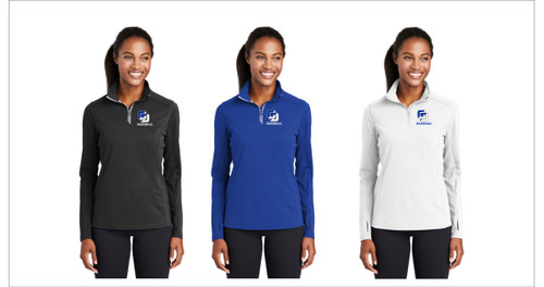 Baseball Sport-Tek® Ladies Sport-Wick® Textured 1/4-Zip Pullover