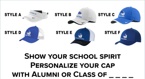 Alumni Embroidered Caps and Visors