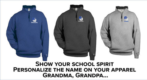Grandparents - Badger - 1/4 Zip Fleece Pullover