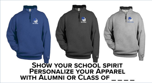 Alumni - Badger - 1/4 Zip Fleece Pullover