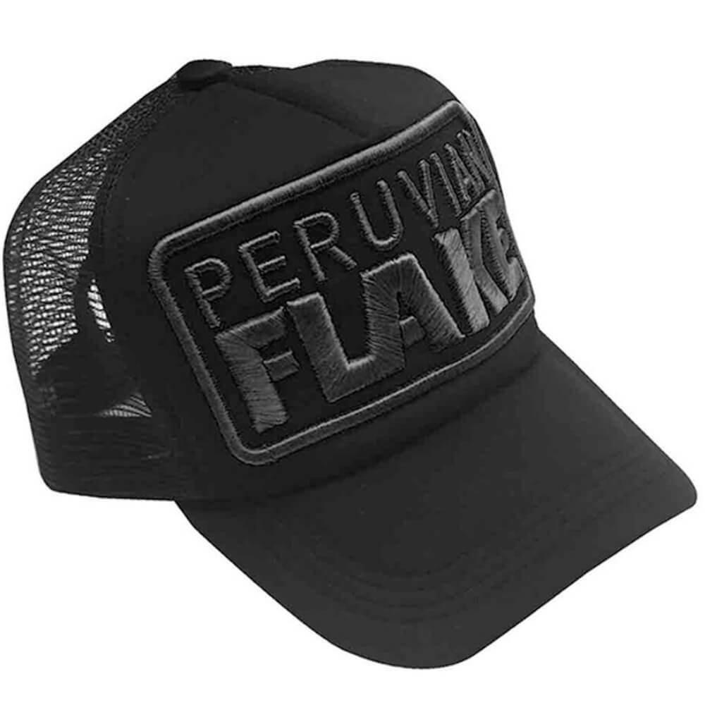 Peruvian Flake Clothing Peruvian Flake Trucker Hat - Black on Black